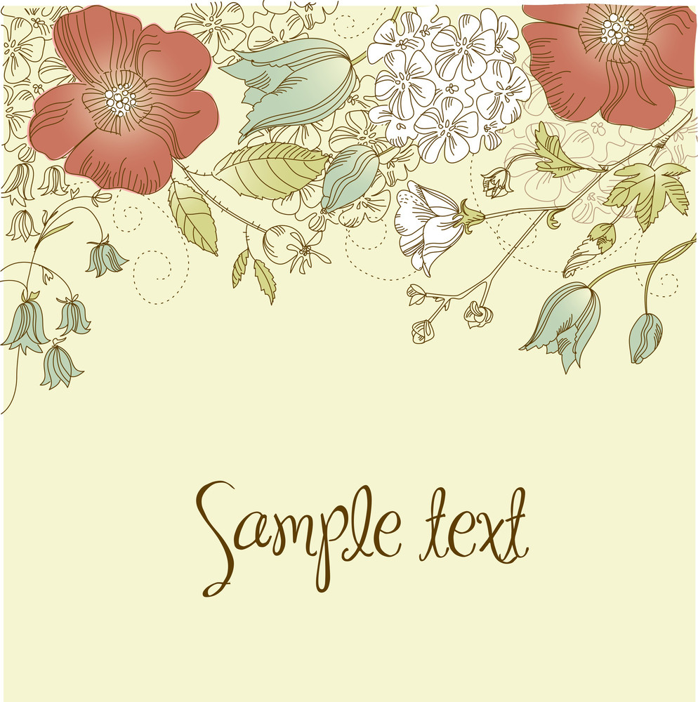 Cute Floral Greeting Card