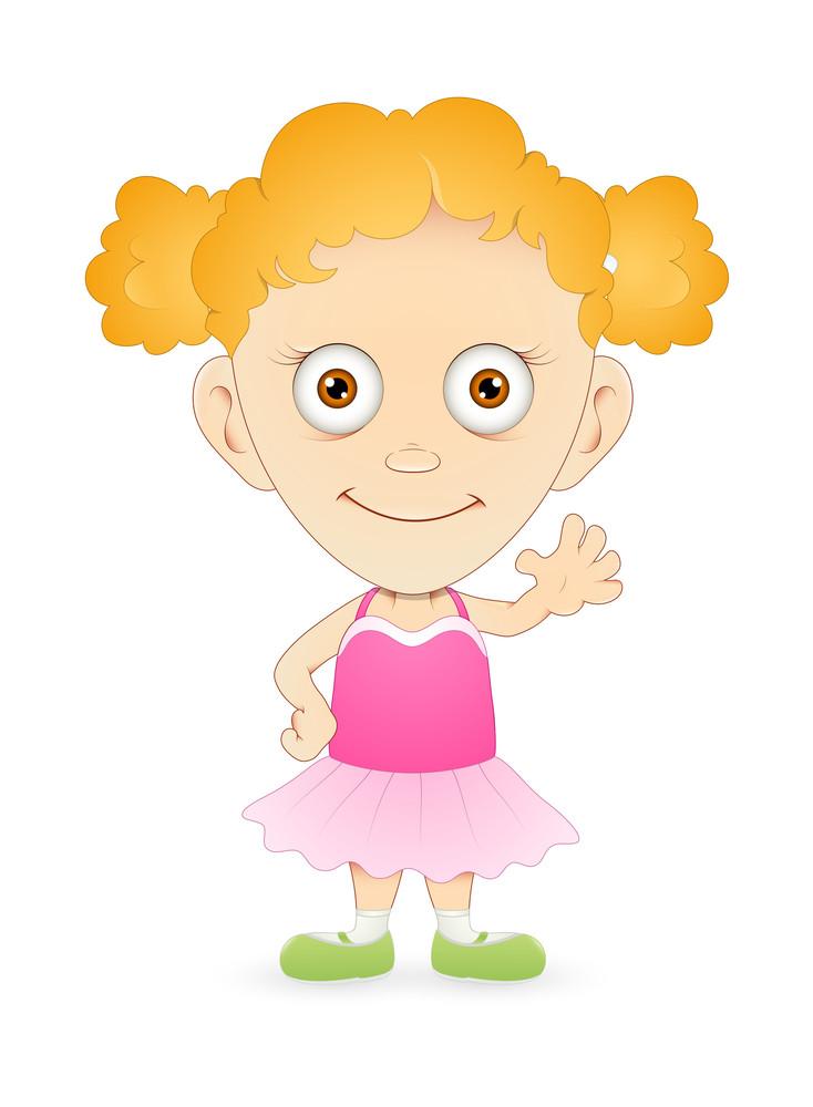 Cute Funny Cartoon Girl