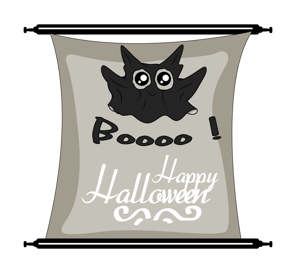 Cute Halloween Ghost Holiday Banner
