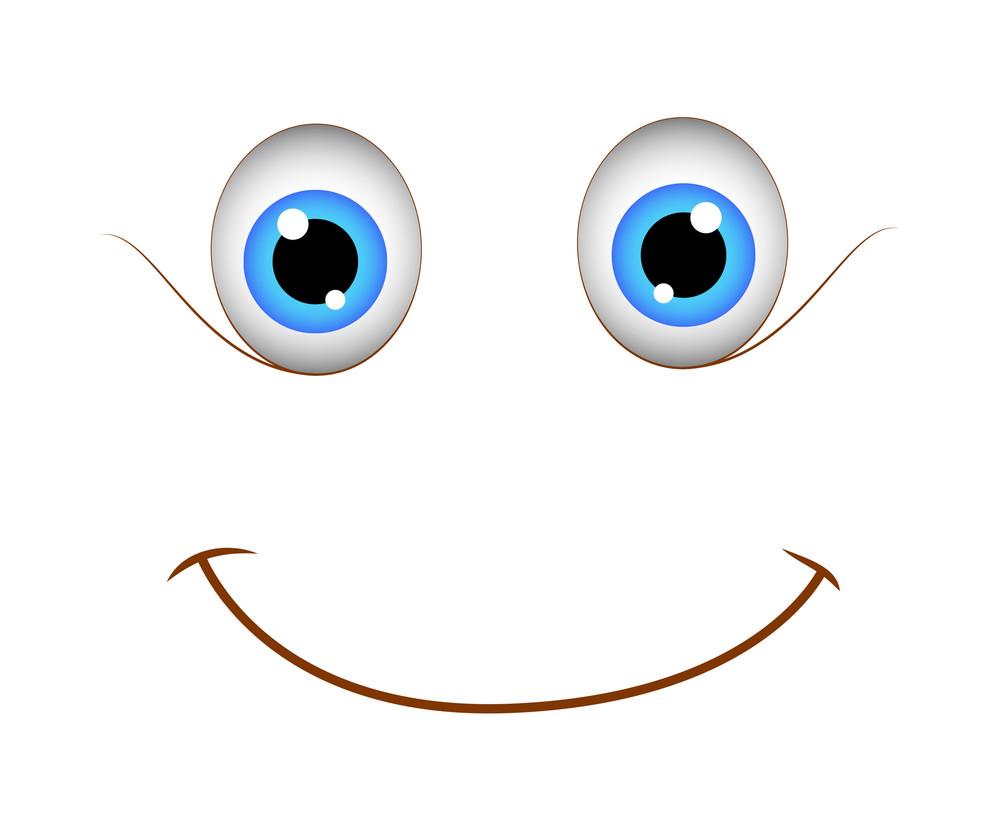 Cute Innocent Happy Cartoon Smile