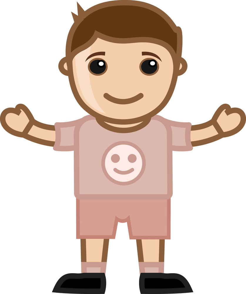 Cute Little Boy Vector Character Cartoon Illustration Royalty