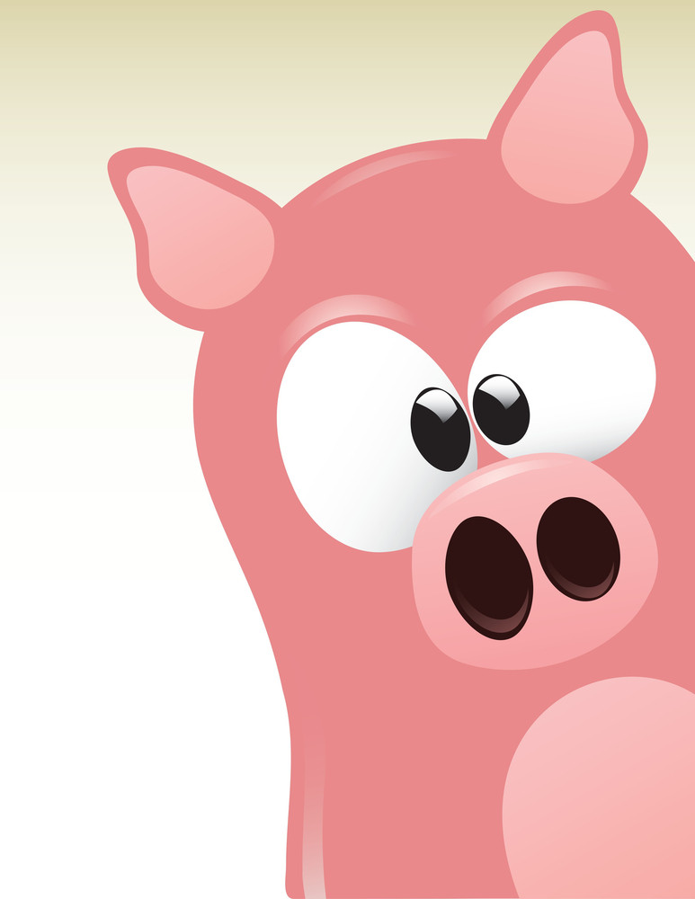 Cute Pig Character