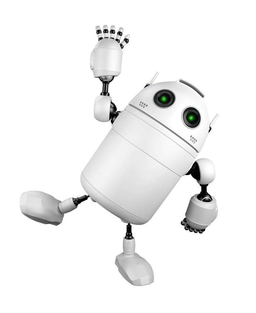 Cute Robot Greeting And Saying Hi