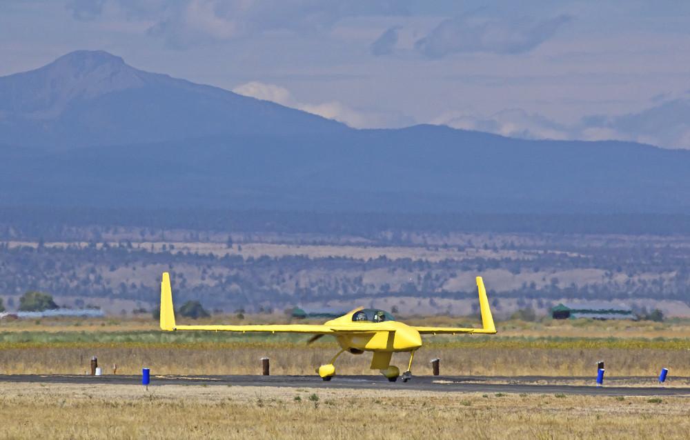 Cute Slim Yellow Plane