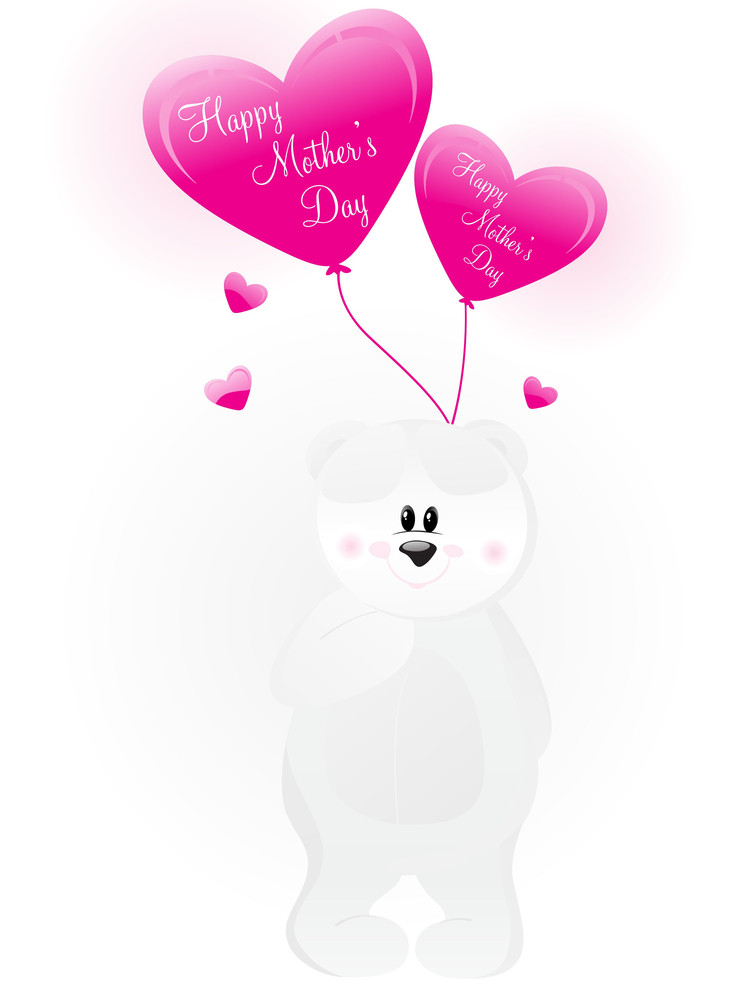 Cute Taddy With Pink Balloons