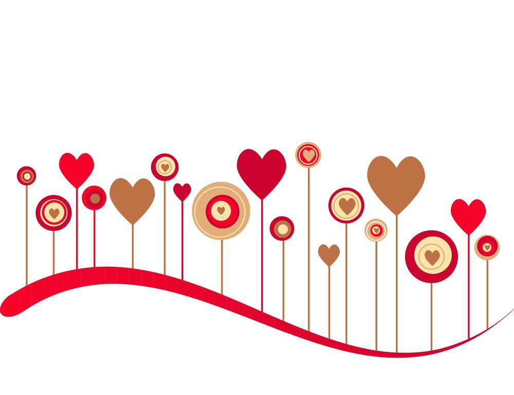Cute Vector Valentine Background-