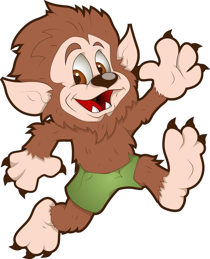 Cute Werewolf - Cartoon Character