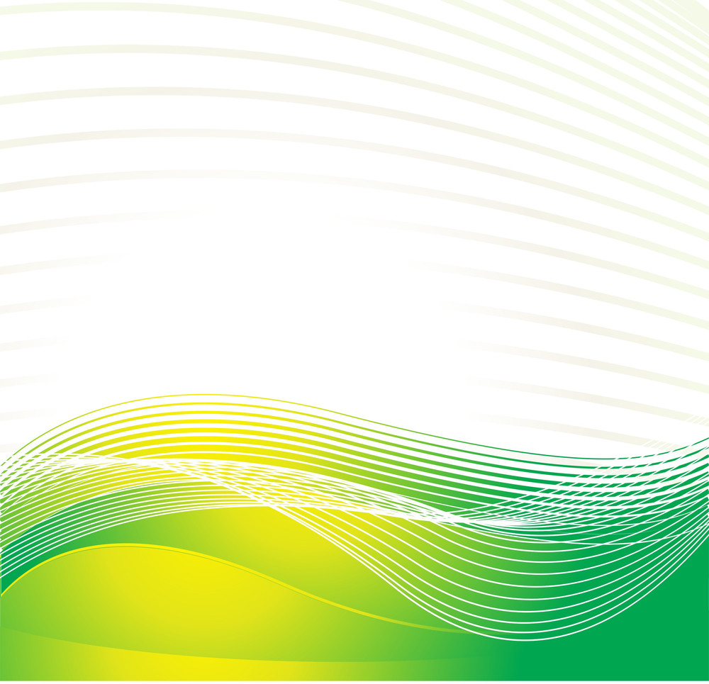 Cyber Waves Lines In Yellow And Green