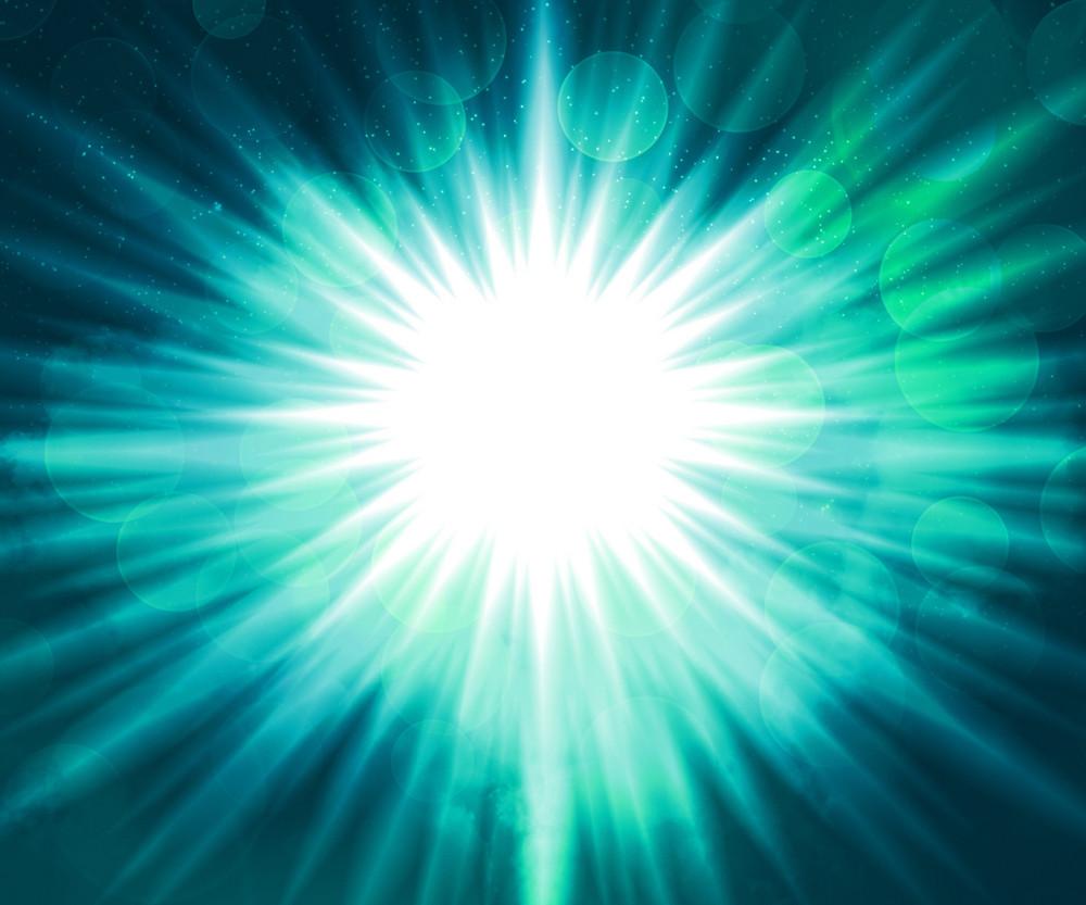Cyjan Glow Background