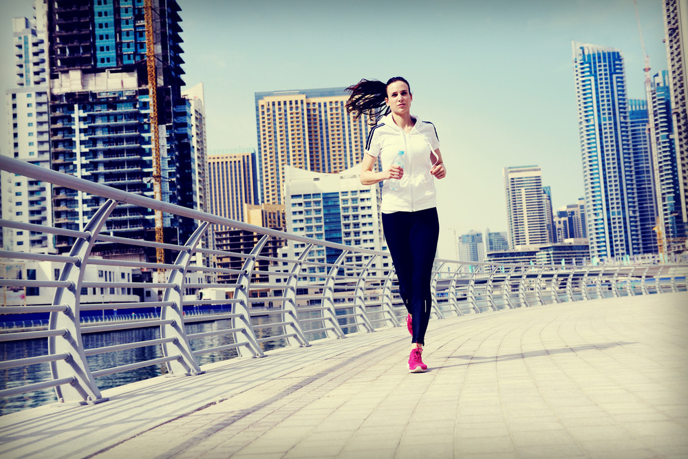 Woman Jogging At Morning