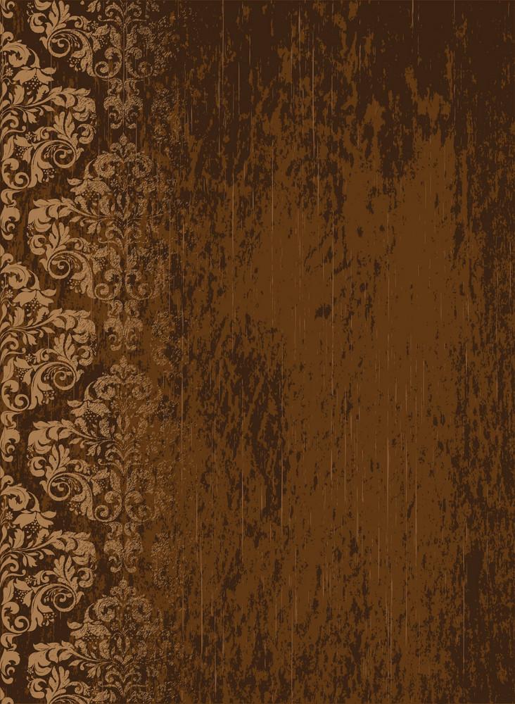 Damask Grunge Background Vector Illustration