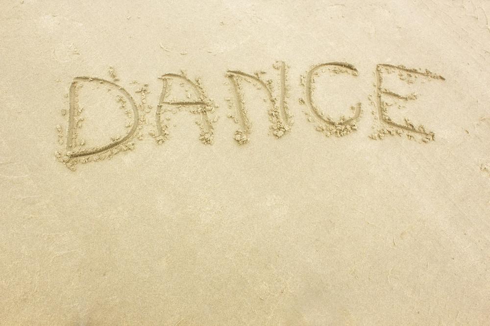 Dance Text On Sand