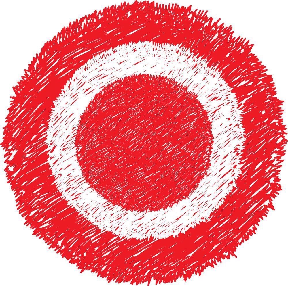 Danger Red Scribble Circle