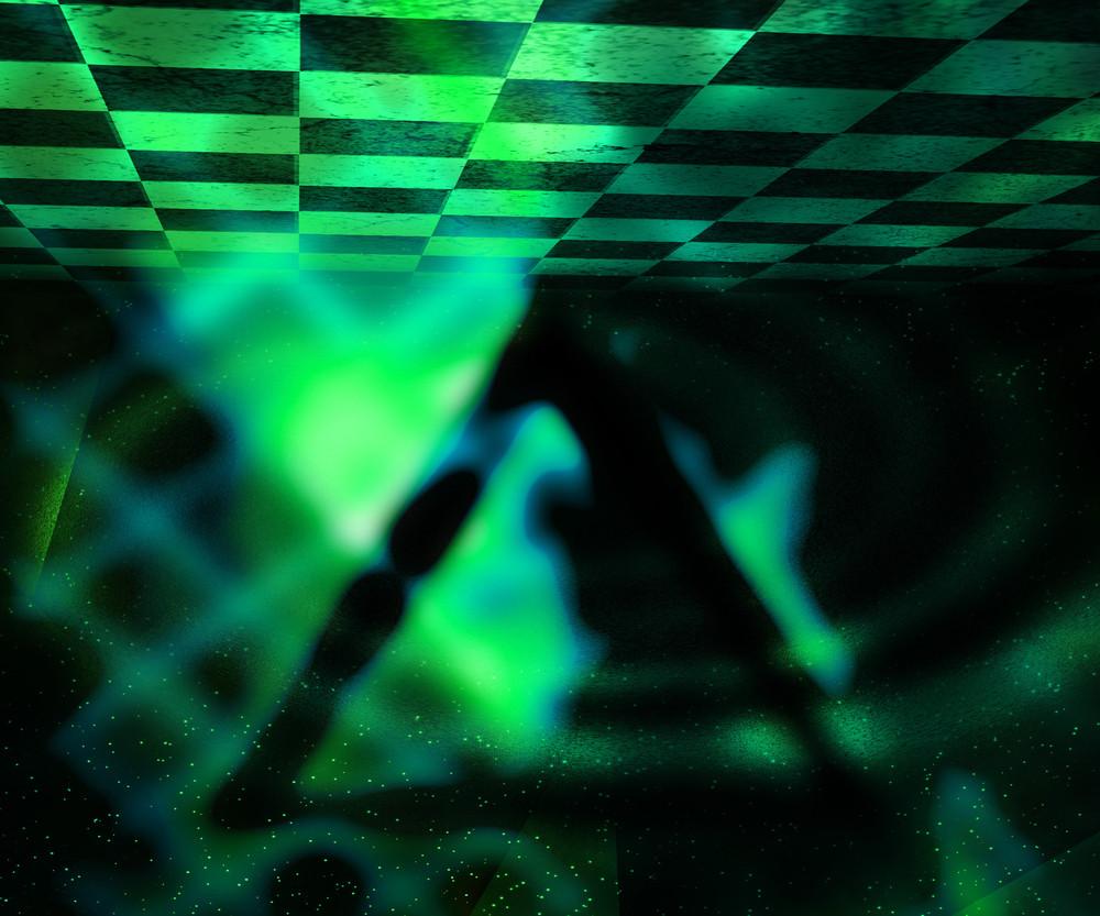 Dark Abstract Texture Green Background