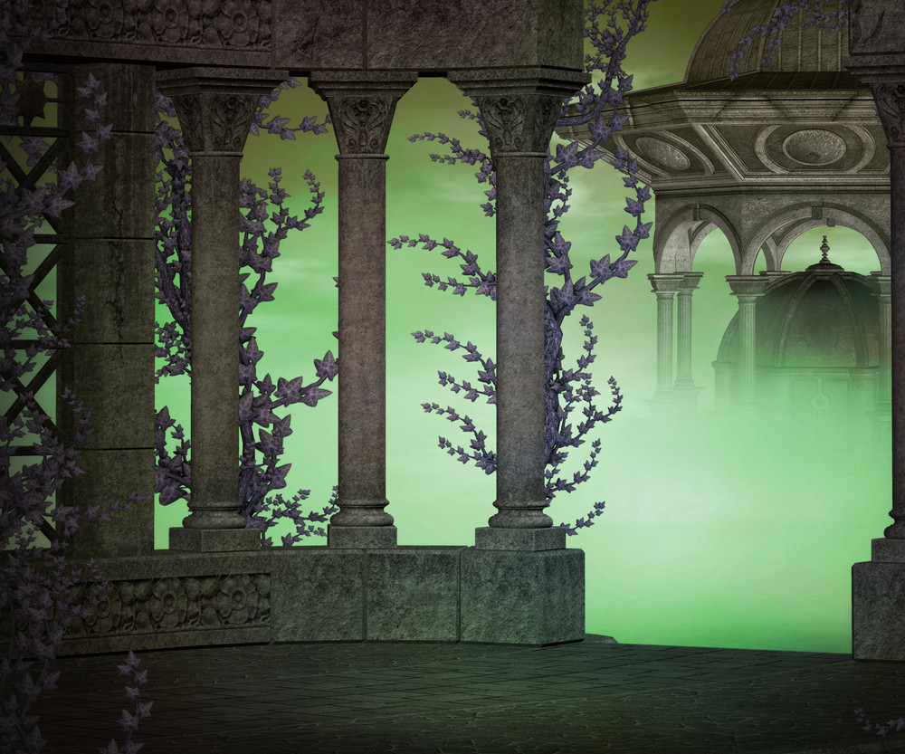 Dark Ancient Premade Backdrop