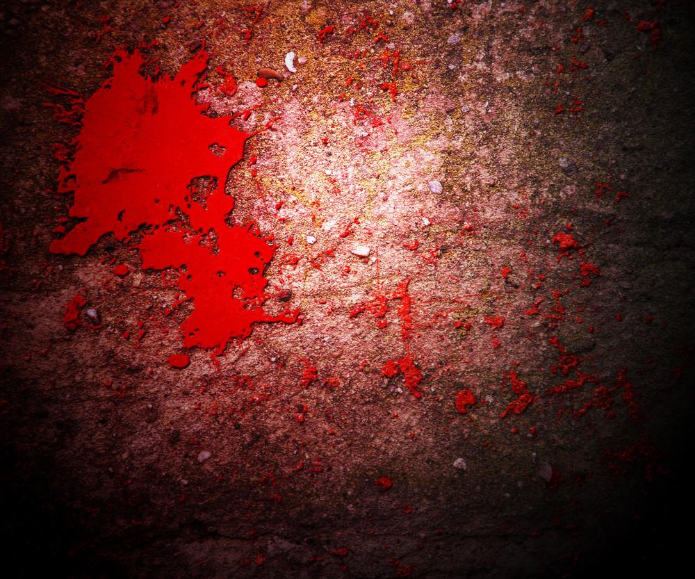 Dark Blood On Grunge Wall