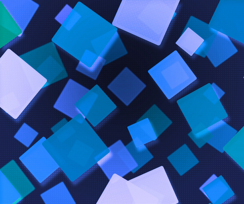 Dark Blue Abstract Squares Background