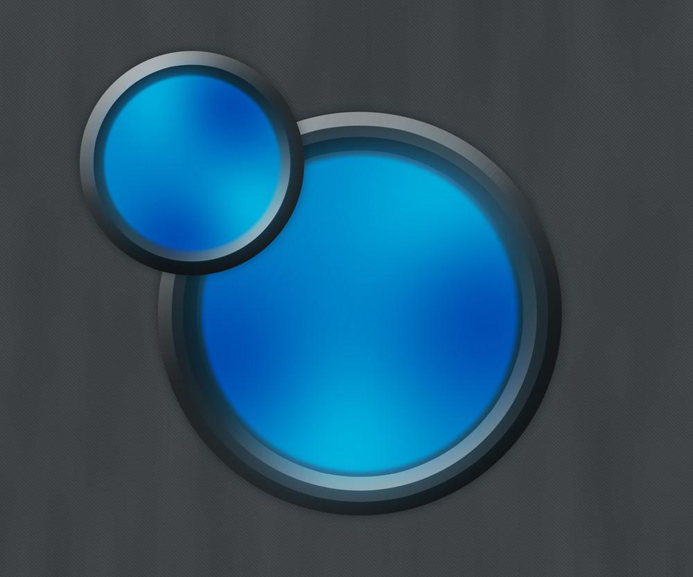 Dark Blue Button Shapes Background