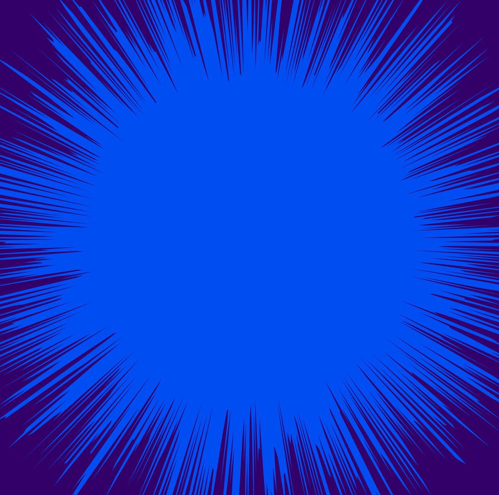 Dark Blue Sunburst Background