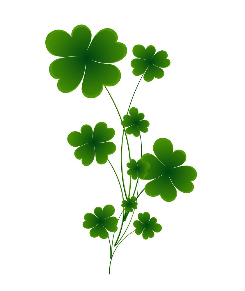 Dark Green Shamrock Leaves Element Royalty Free Stock Image