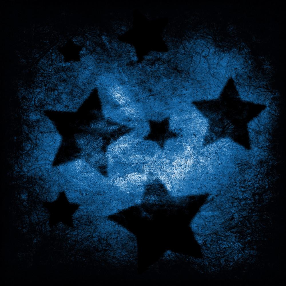 Dark Grungy Stars Background