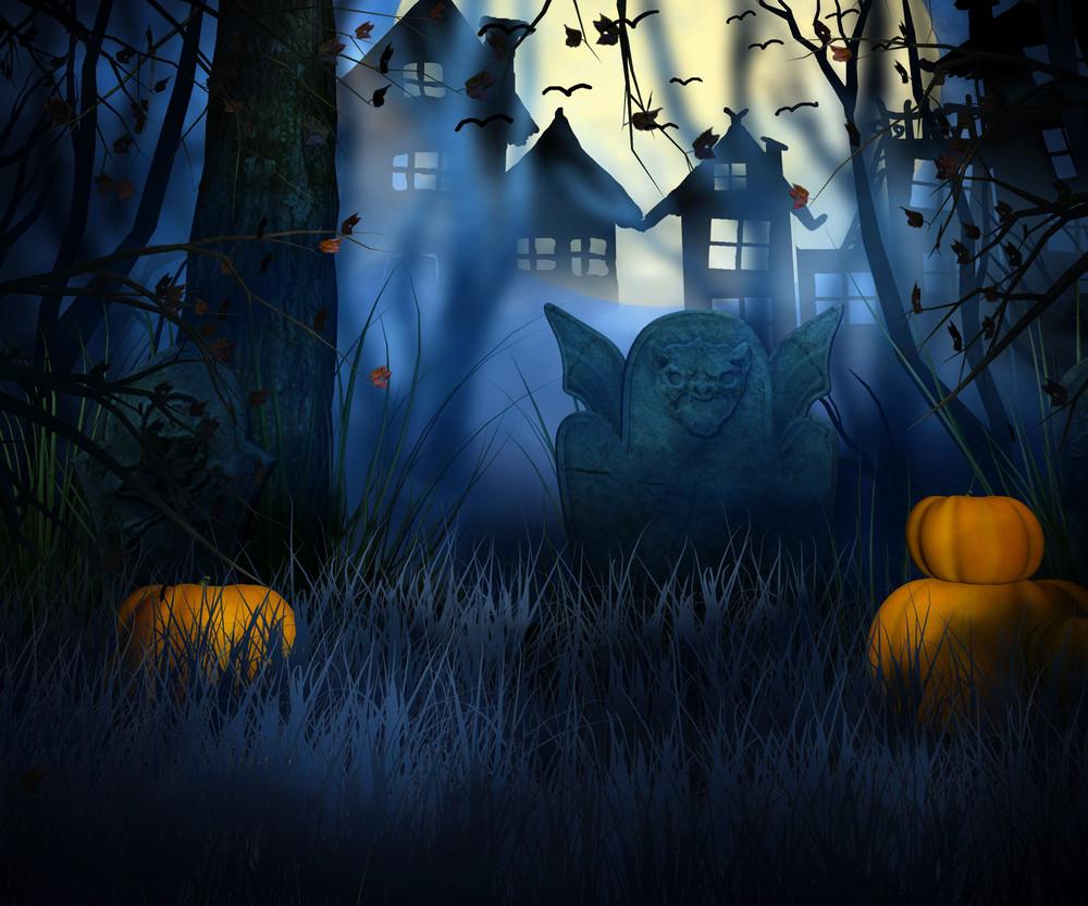 Dark Halloween Backdrop