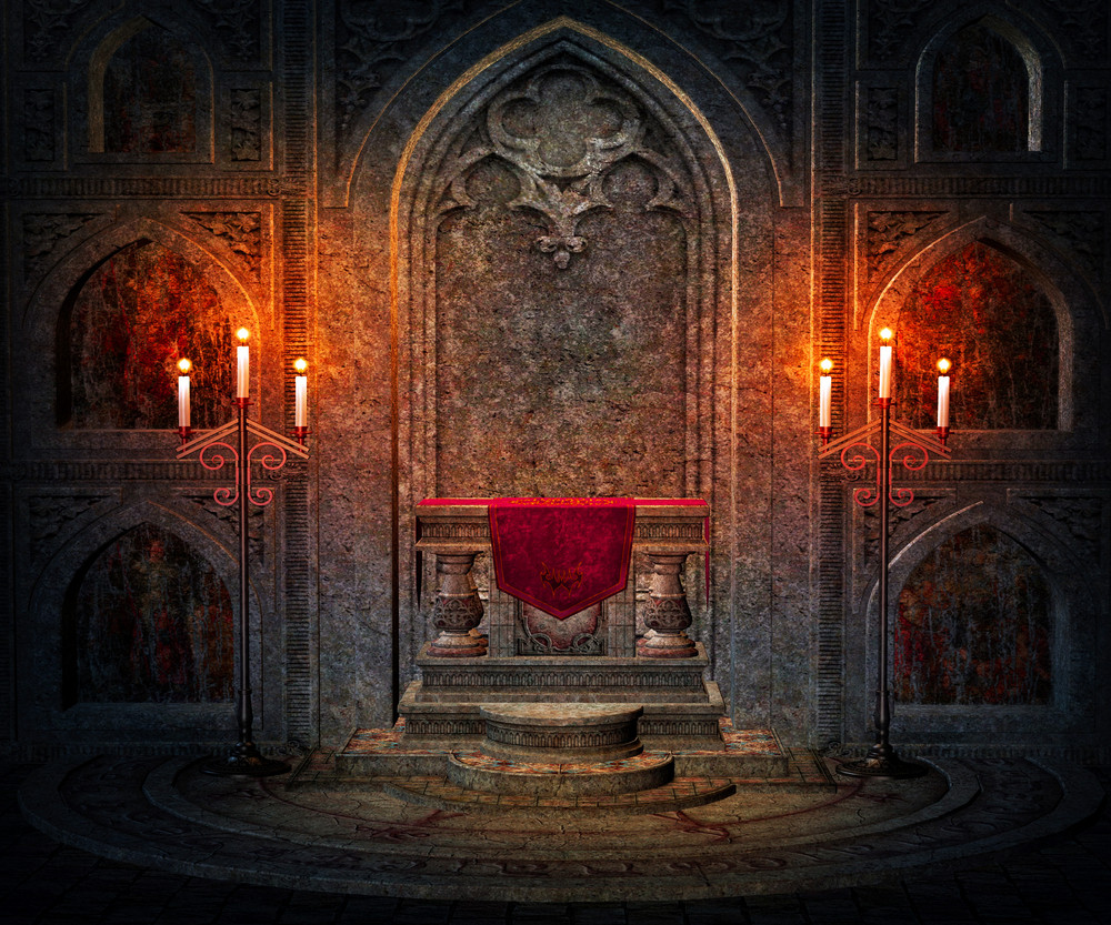 Dark Interior Gothic Background