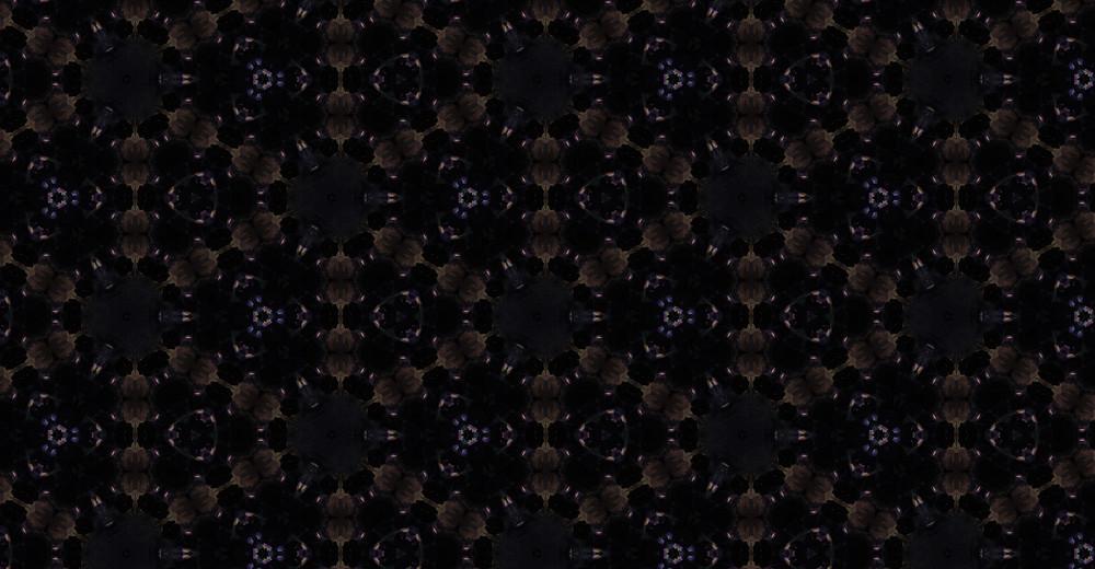 Dark Kaleidoscope Floral Pattern