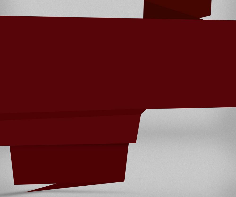 Dark Red Origami Background