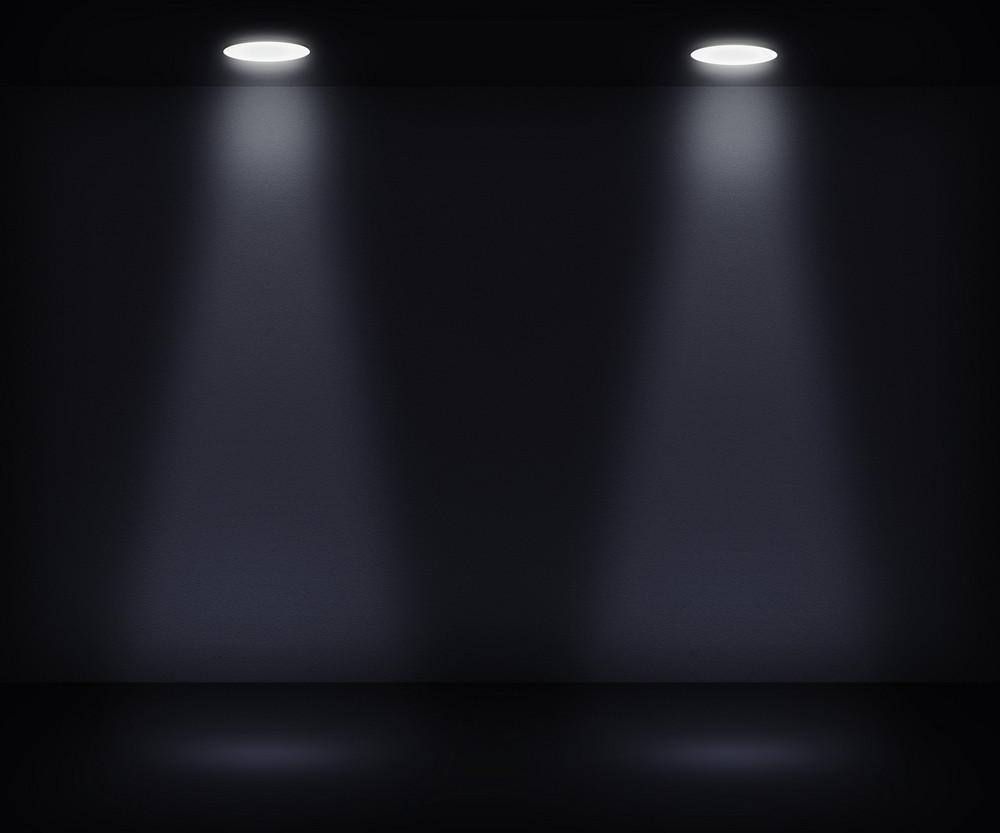 Dark Room With Two Spotlights