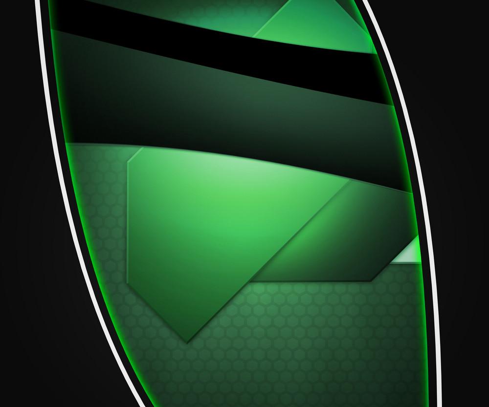 Dark Shapes Green Background