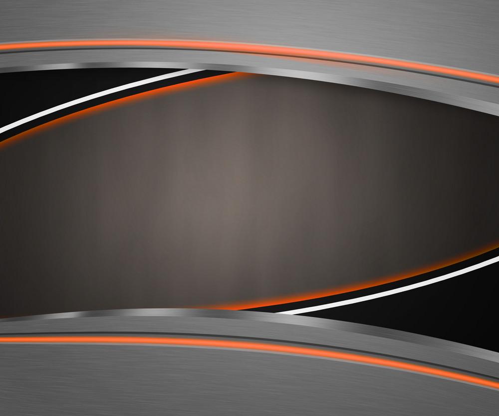Dark Shapes Orange Background
