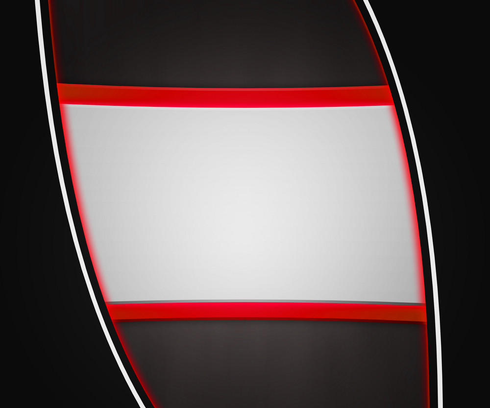 Dark Shapes Red Background