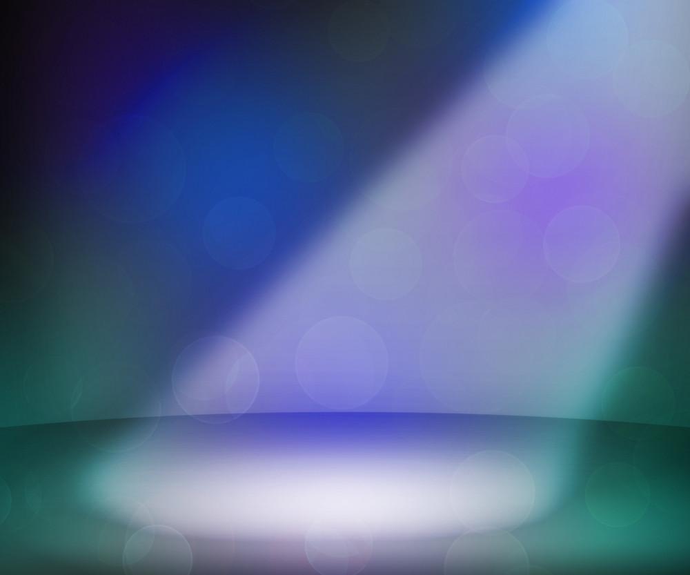 Dark Spotlights Room