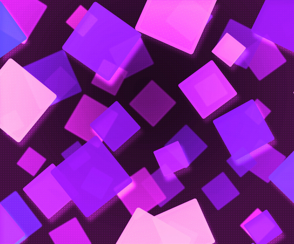 Dark Violet Abstract Squares Background