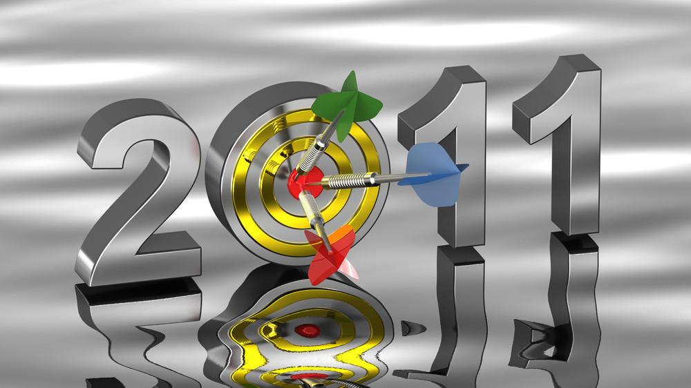 Dart Hitting Target - New Year 2011.
