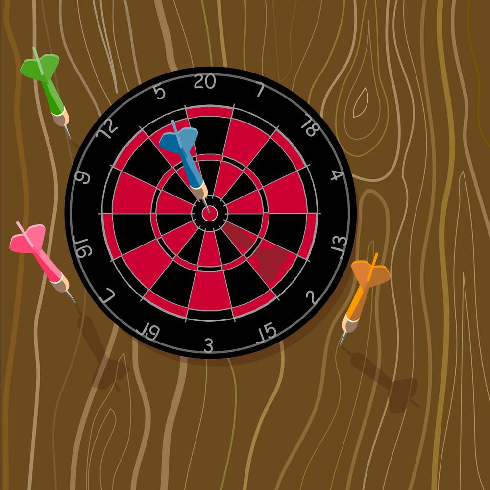 Dartboard And Dart Bullseye