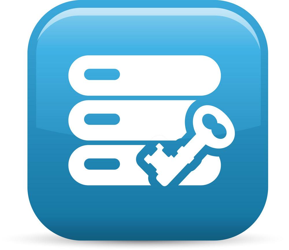 Data Stack Key Elements Glossy Icon