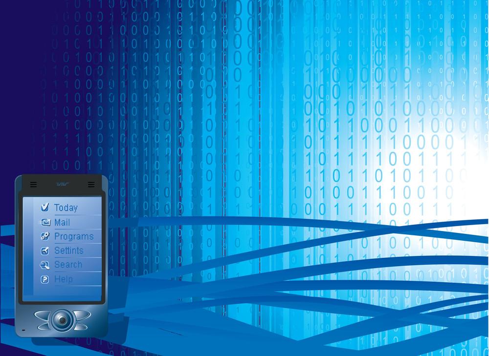Data Transfer. Vector Background.