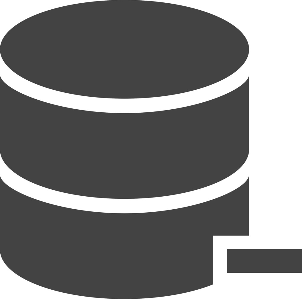 Database Remove Glyph Icon