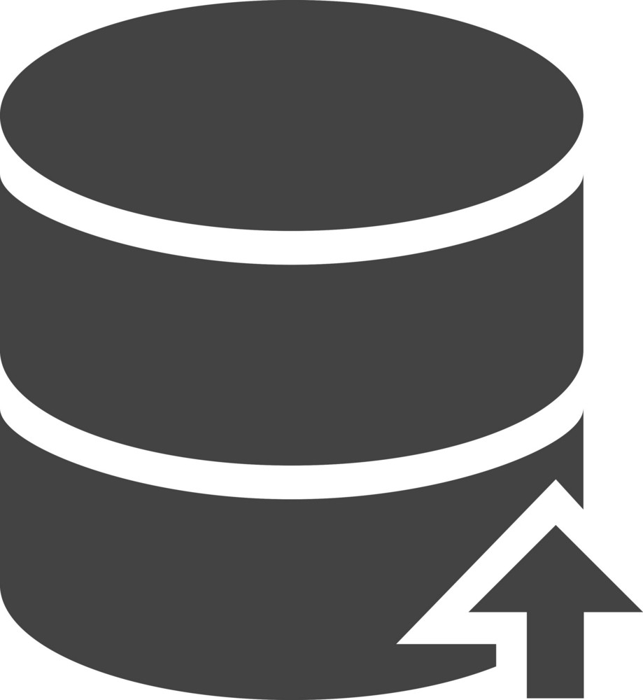 Database Up Glyph Icon
