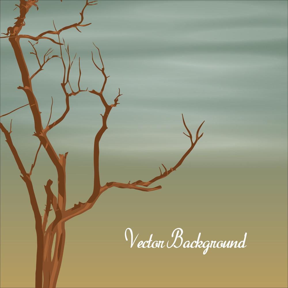 Dead Tree Banner Vector
