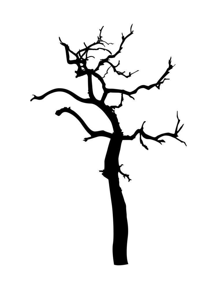 Dead Tree Shape Vector