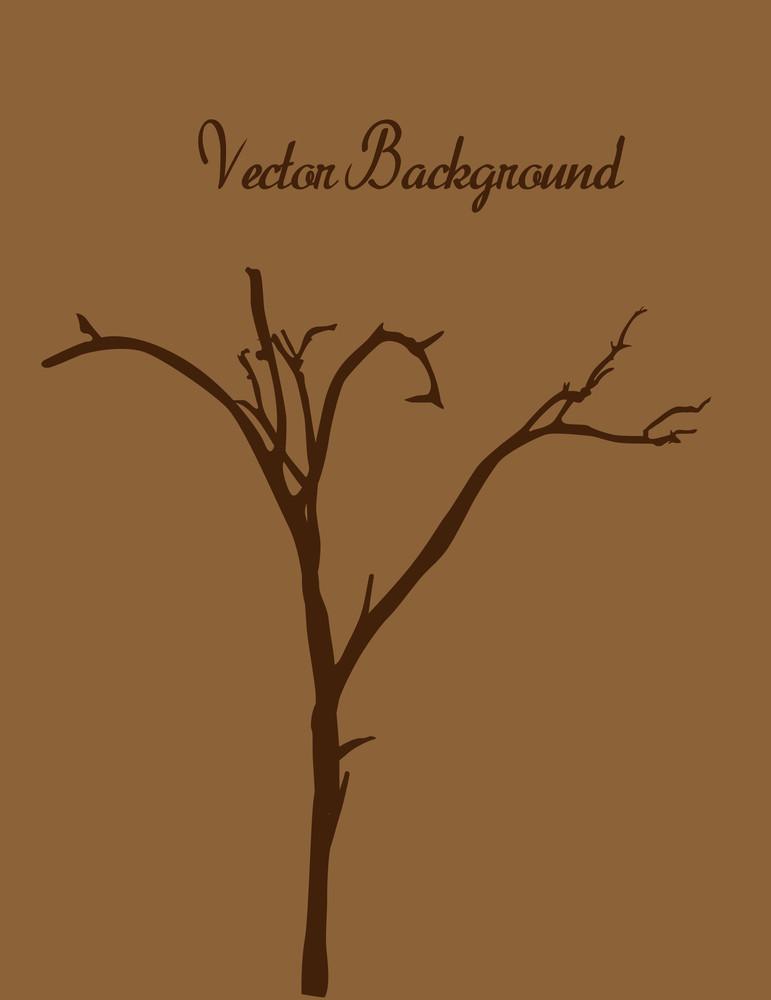 Dead Tree Silhouette Template