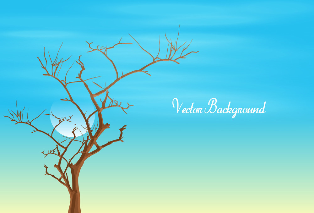 Dead Tree Vector Drawing