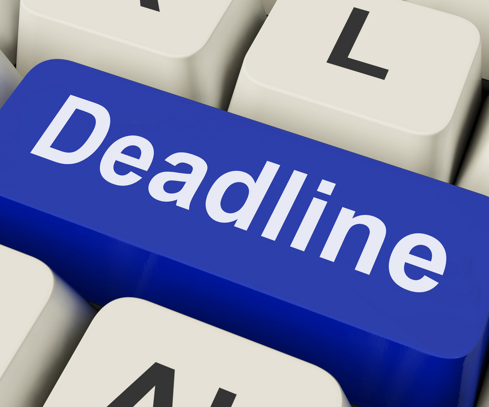 Deadline Key Means Target Time Or Finish Date