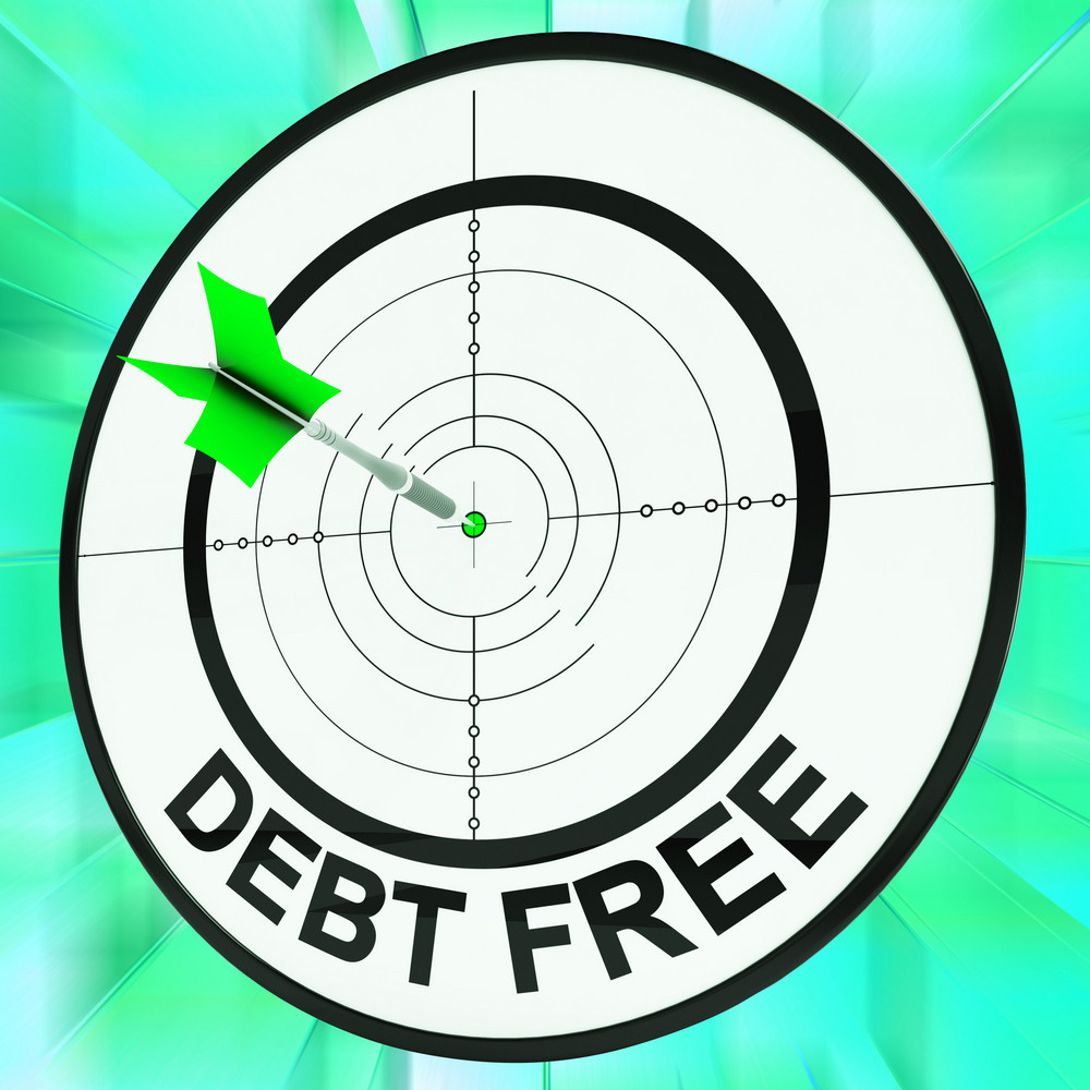 Debt Free Shows Financial Wealth And Success