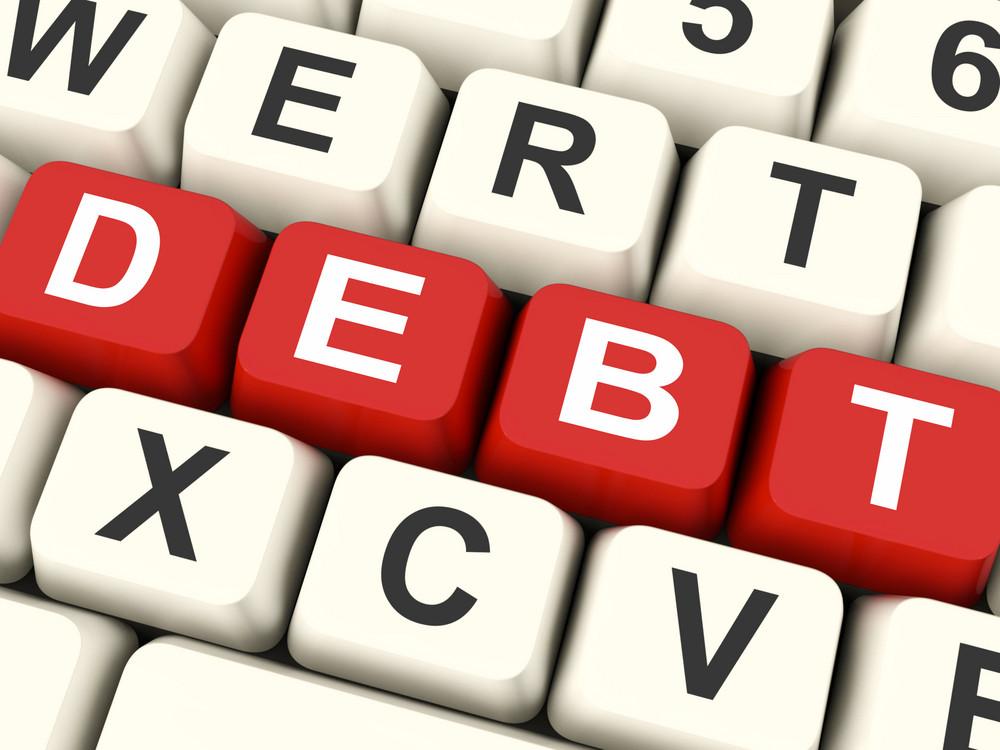 Debt Keys Mean Liability Or Financial Obligation