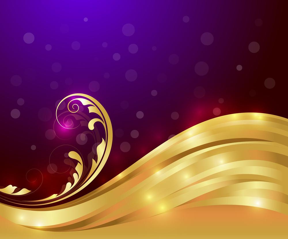 Decor Bright Golden Flora Art