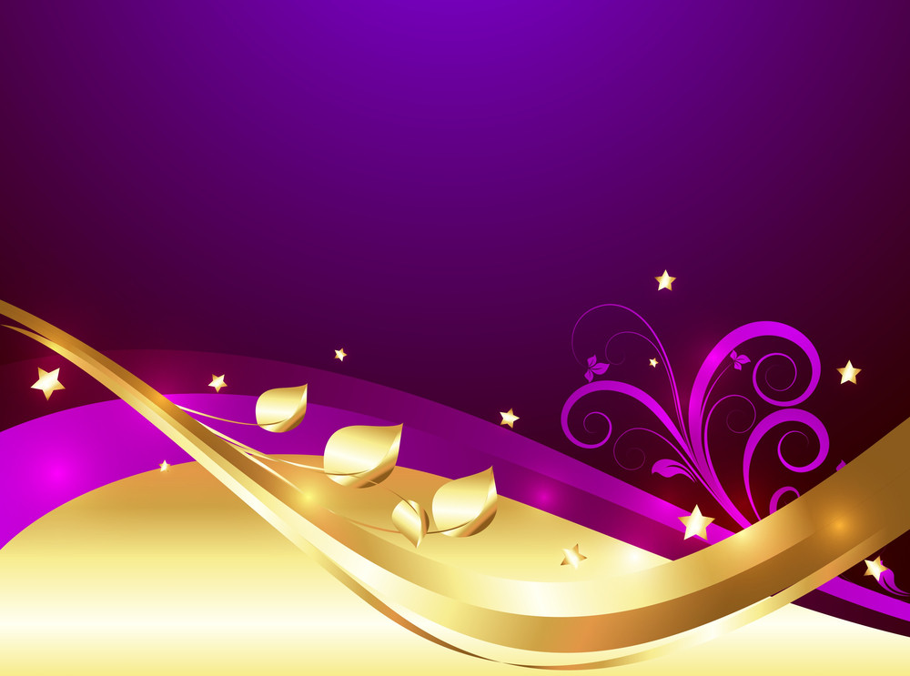 Decor Golden Ornamental Flourish Background